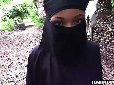 arab girl must wear hijab while getting fucked