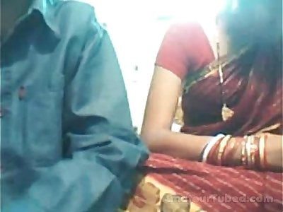Indian young couple on cam