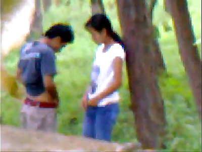 Desi girlfriend outdoor romping with boyfriend indian and bangla
